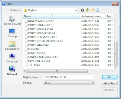 MP3 Sammlung in Playlisten